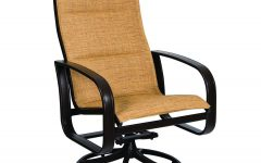 Padded Sling High Back Swivel Chairs