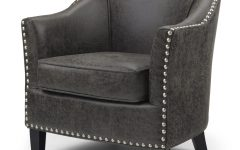Faux Leather Barrel Chairs