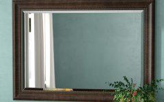 Vassallo Beaded Bronze Beveled Wall Mirrors