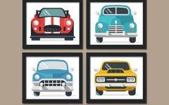 Cars Theme Canvas Wall Art