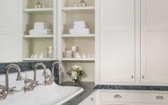 Classic Minimalist Floor to Ceiling Bathroom Cabinets