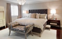 Classic and Luxury Fabric Bedroom With Crystal Chandelier