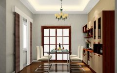 Classic Dining Room Chandelier and Ceiling LED Lighting Combination