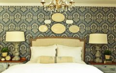 Classic Fabric Bedroom With Decorative Fabric Wall