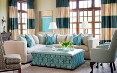 Colorful Living Room Curtain Design
