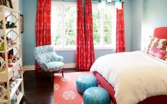 Colorful Fabric Bedroom for Girl