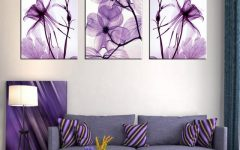 Canvas Wall Art in Purple