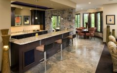 Contemporary Home Bar Marble Table