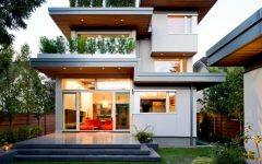 Contemporary House Exterior Design Green Nuance