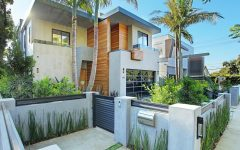 Contemporary Palm Tree House Exterior Decor