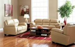 Contemporary Living Room With Brown Leather Sofa