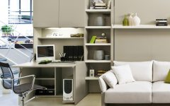 Contempory Modular Home Office Furniture White Color