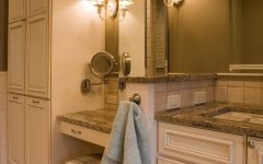 Cottage Style Bathroom Flattering Sconce Lighting