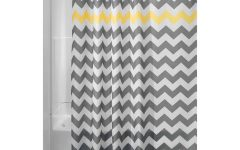 Gray Chevron Shower Curtains