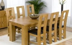 Oak Dining Set 6 Chairs
