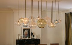 Creative Dining Room Lighting With Aqua Chandelier