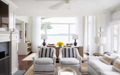 Crisp White and Natural Color Palate Living Room Decor