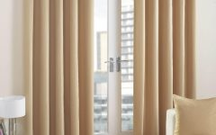 Cream and Gold Eyelet Curtains