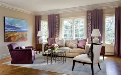Cute Pink Living Room Curtain