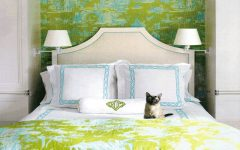 Cute and Fresh Fabric Bedroom With Green Color