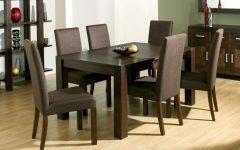 Dark Brown Wood Dining Tables