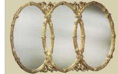 Triple Oval Wall Mirror