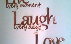 Live Laugh Love Wall Art Metal