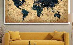 Large Map Wall Art