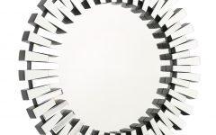 Deniece Sunburst Round Wall Mirrors