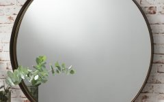 Large Round Metal Mirror