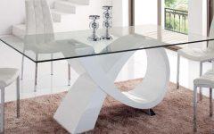 Rectangular Glasstop Dining Tables