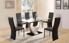Glass Dining Tables 6 Chairs