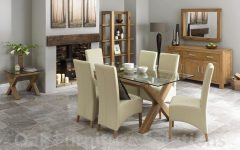 Glass and Oak Dining Tables and Chairs