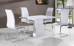 High Gloss White Dining Chairs