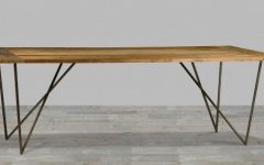 Iron Wood Dining Tables With Metal Legs