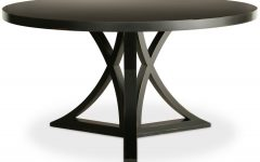 Caira Black Round Dining Tables
