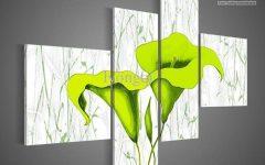 Lime Green Abstract Wall Art