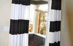 Thick Striped Curtains
