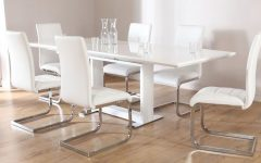 White Extending Dining Tables and Chairs