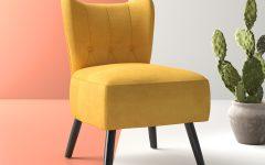 Easterling Velvet Slipper Chairs