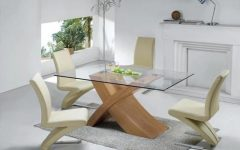 Glass Dining Tables With Oak Legs