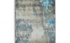 Blue Distressed Mirror