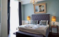 Elegance Fabric Bedroom With Crystal Chandelier