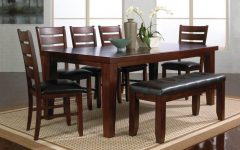 Dark Wood Dining Tables and 6 Chairs