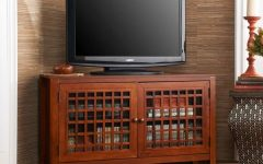 Walnut Corner TV Stands