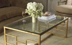 Glass Gold Coffee Tables