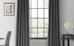 True Blackout Vintage Textured Faux Silk Curtain Panels