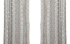 Baroque Linen Grommet Top Curtain Panel Pairs