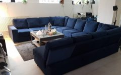 Blue U Shaped Sectionals