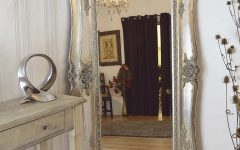 Large Antique Silver Mirror